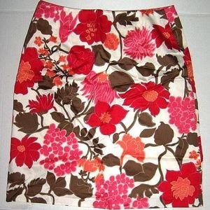 Vintage Acetate Cotton Summer Fun Soft Lined Skirt